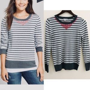 Halogen Fine Gauge Cotton Crewneck Sweater, EUC